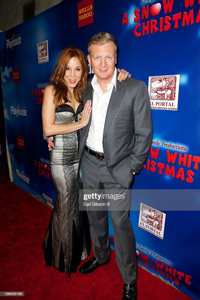 Becky Baeling and Kris Lythgoe attend 'A Snow White Christmas' at the Pasadena Playhouse on December 12, 2012 in Pasadena, California.