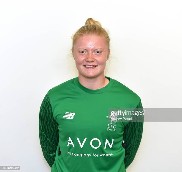 Becky Flaherty of Liverpool Ladies during a Photocall at Select Security Stadium on June 2 2017 in Widnes England