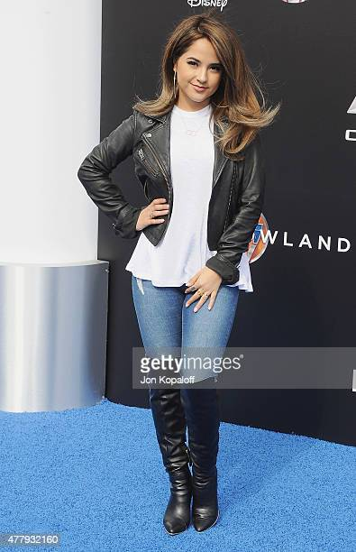 Becky G arrives at the Los Angeles Premiere of Disney's 'Tomorrowland' at AMC Downtown Disney on May 9 2015 in Lake Buena Vista Florida