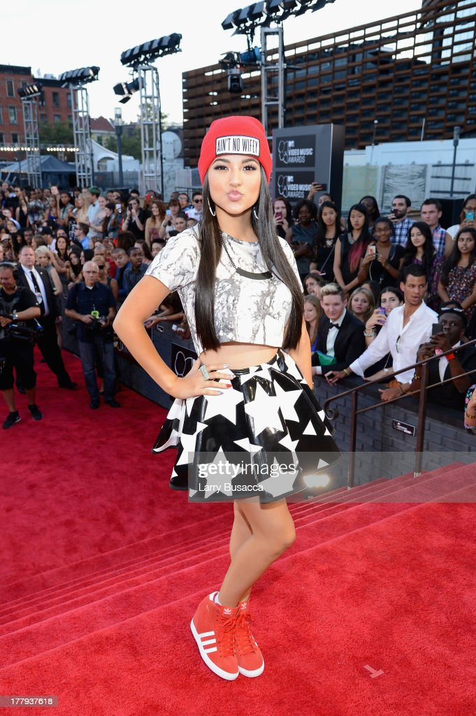 <a gi-track='captionPersonalityLinkClicked' href=/galleries/search?phrase=Becky+G&family=editorial&specificpeople=9754027 ng-click='$event.stopPropagation()'>Becky G</a> attends the 2013 MTV Video Music Awards at the Barclays Center on August 25, 2013 in the Brooklyn borough of New York City.