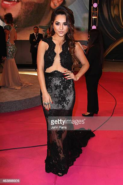 Becky G attends the 2015 Premios Lo Nuestros Awards at American Airlines Arena on February 19 2015 in Miami Florida