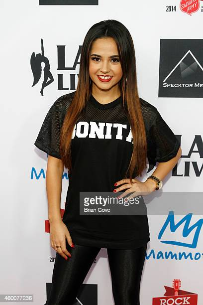 Becky G attends the 5th annual Rock the Red Kettle concert hosted by the Salvation Army at LA LIVE on December 6 2014 in Los Angeles California