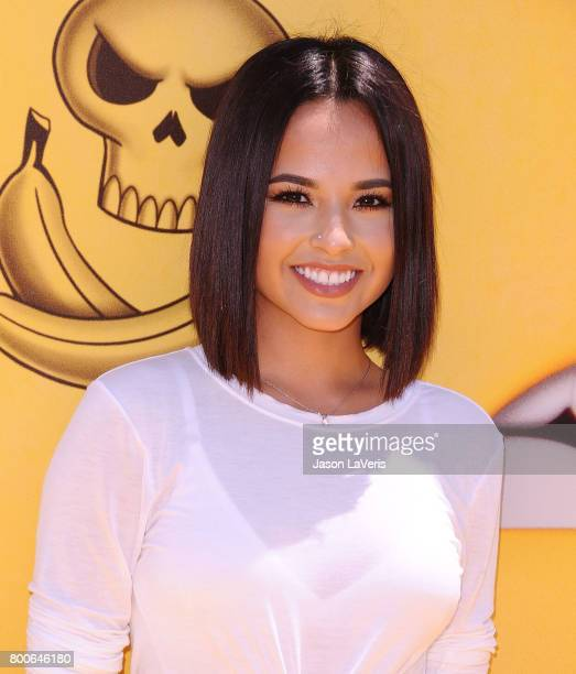 Becky G attends the premiere of 'Despicable Me 3' at The Shrine Auditorium on June 24 2017 in Los Angeles California