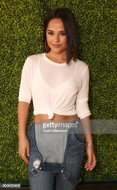 Becky G attends the Premiere Of Universal Pictures And Illumination Entertainment's 'Despicable Me 3' at The Shrine Auditorium on June 24 2017 in Los...