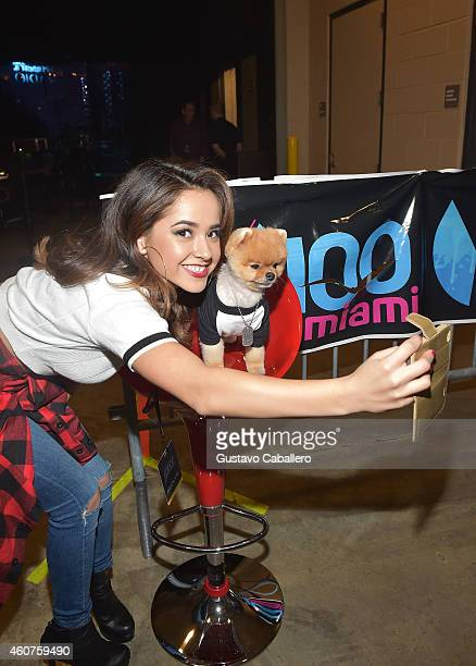 Becky G attends Y100's Jingle Ball 2014 at BBT Center on December 21 2014 in Miami FL