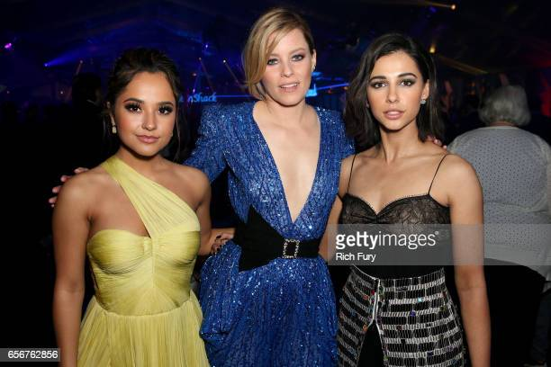 Becky G Elizabeth Banks and Naomi Scott attend the after party for the premiere of Lionsgate's 'Power Rangers' on March 22 2017 in Los Angeles...