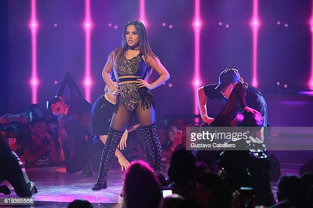 Becky G Performs In First Live Episode of Univision Networks La Banda at Univision Studios on October 30 2016 in Miami Florida