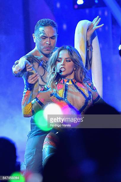 Becky G performs onstage at the Univision's 13th Edition Of Premios Juventud Youth Awards at Bank United Center on July 14 2016 in Miami Florida