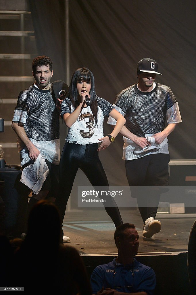 Becky G performs prior to Austin Mahone at Orpheum Theater on March 7, 2014 in Boston, Massachusetts.