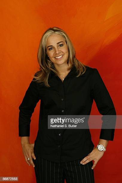Becky Hammon of the New York Liberty poses for a portrait during the 2006 All Star Media Availability on February 17 2006 at the Hilton Americas...
