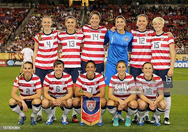 Becky Sauerbrunn Alex Morgan Abby Wambach Hope Solo Lauren Cheney Megan Rapinoe Heather Mitts Amy LePeilbet Shannon Boxx Carli Lloyd and Rachel...