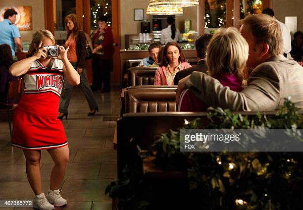 Becky takes a picture of Sue and Cooter on a date in the 'I Kissed a Girl' episode of GLEE airing Tuesday Nov 29 on FOX
