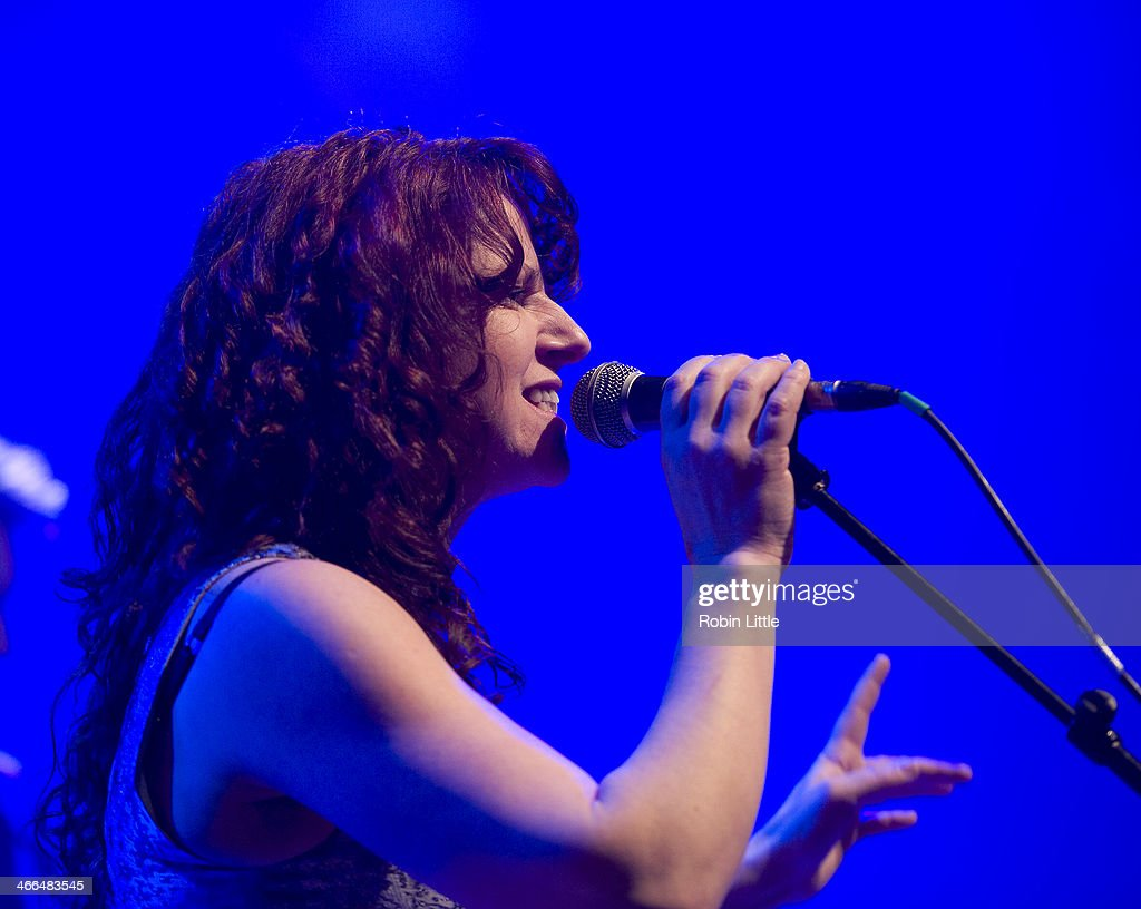 Becky Tate of Baabajack performs on stage at Shepherds Bush Empire on February 1, 2014 in London, United Kingdom.