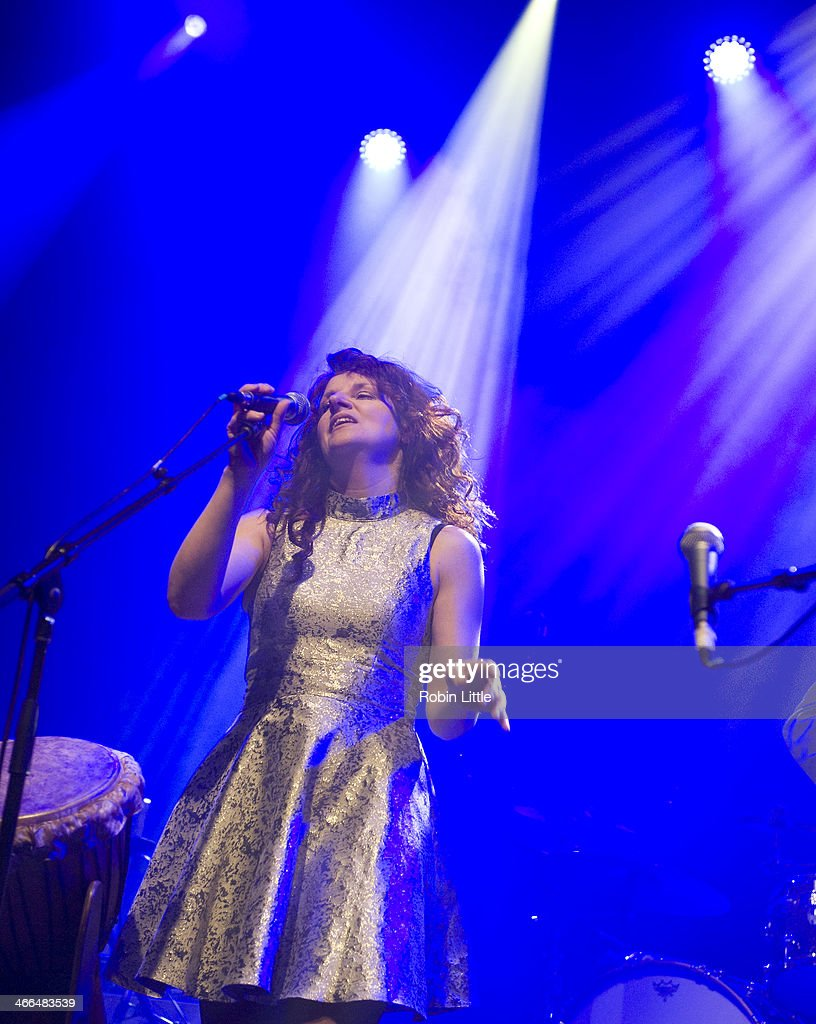 Becky Tate of Babajack performs on stage at Shepherds Bush Empire on February 1, 2014 in London, United Kingdom.