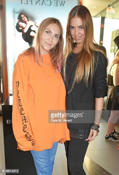 Becky Tong and Amber Le Bon attend the Emporio Armani You Fragrance launch at Sea Containers on July 20 2017 in London England