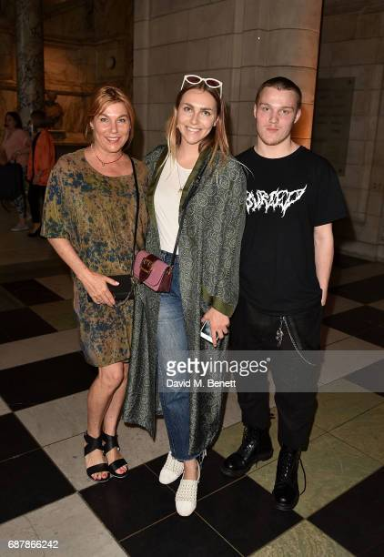 Becky Tong and guests attend Balenciaga Shaping Fashion VIP Preview sponsored by American Express at Victoria and Albert Museum on May 24 2017 in...
