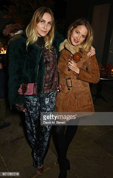 Becky Tong and Tess Ward attend The Ivy Chelsea Garden's Guy Fawkes party on November 5 2016 in London England