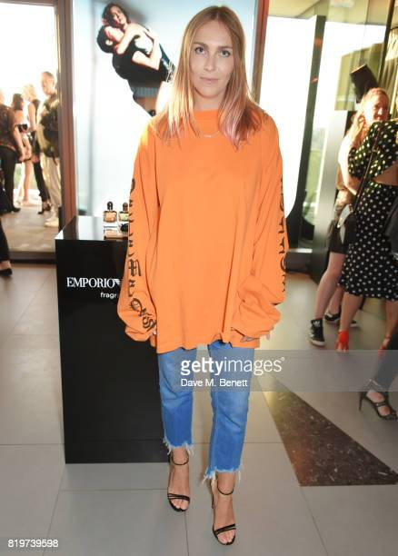 Becky Tong attends the Emporio Armani You Fragrance launch at Sea Containers on July 20 2017 in London England