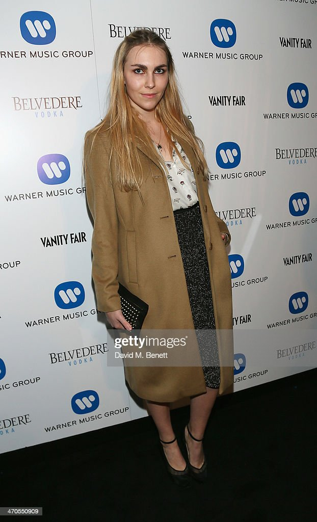 Becky Tong attends The Warner Music Group And Belvedere Brit Awards After Party In Association With Vanity Fair at The Savoy Hotel on February 19...