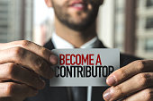 Become a Contributor sign