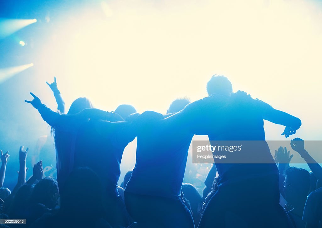 Becoming a part of the music : Stock Photo