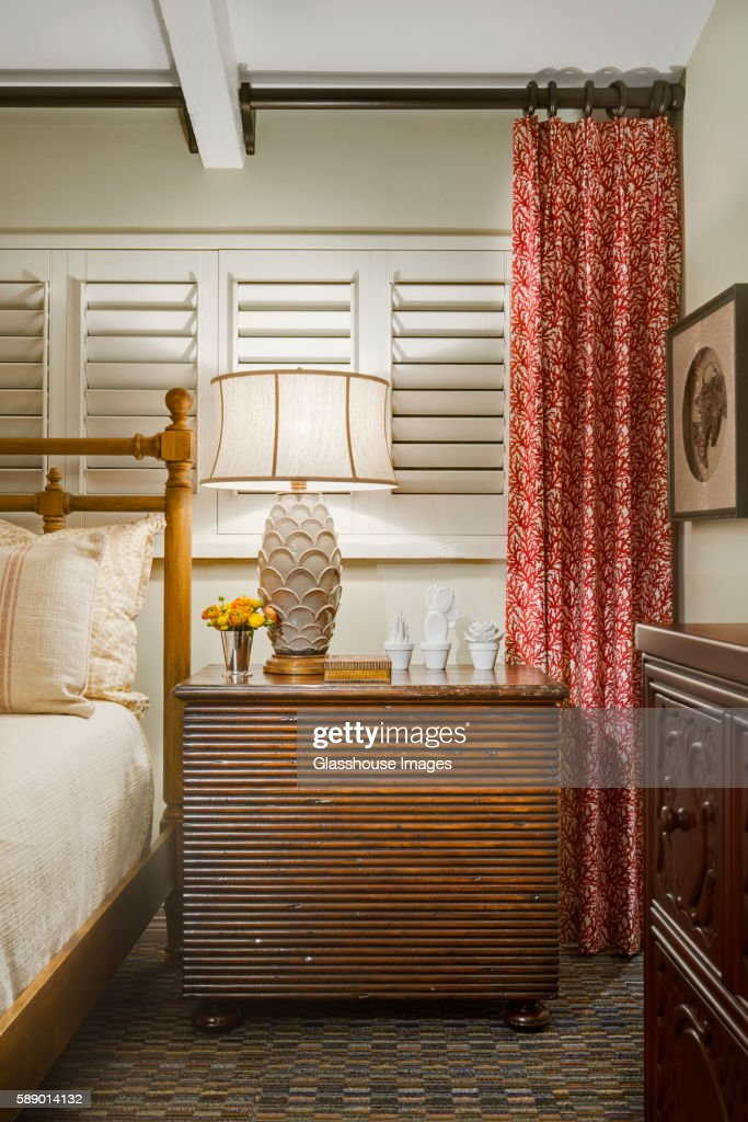 Bed and Nightstand, Detail