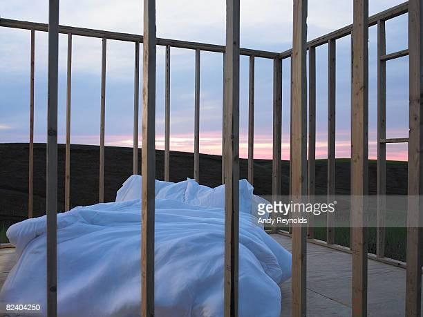 ベッドの日の出