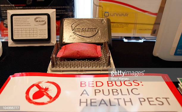 A bed bug detection device is displayed at the Bed Bug University North American Summit 2010 on September 22 2010 in Rosemont Illinois The twoday...
