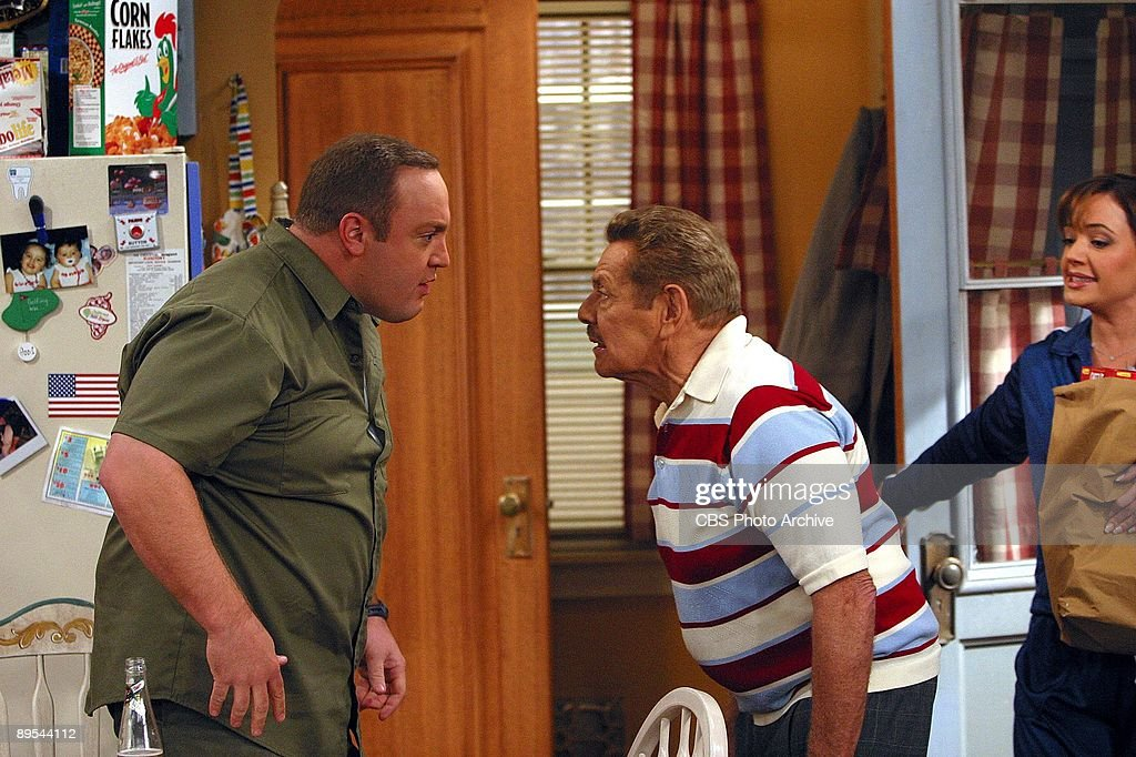 'Bed Spread' -- When Doug (Kevin James, left) and Carrie's (Leah Remini, right) bed breaks, they are forced to borrow Deacon's kids' twin beds and quickly discover that sleeping in their own bed is pretty nice. However when their neighbor, Lou Ferrigno (pictured, Lou Ferrigno guest stars as himself), spots the twin beds while in their house, he starts spreading rumors that Carrie and Doug are having marital problems. Although, Arthur (Jerry Stiller, center) catches on to Ferrigno and puts an end to the rumors on The King of Queens, scheduled to air on the CBS Television Network.