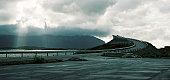 bedeckt, abyss, Atlantic away, autumn, banks, bridge, buildings