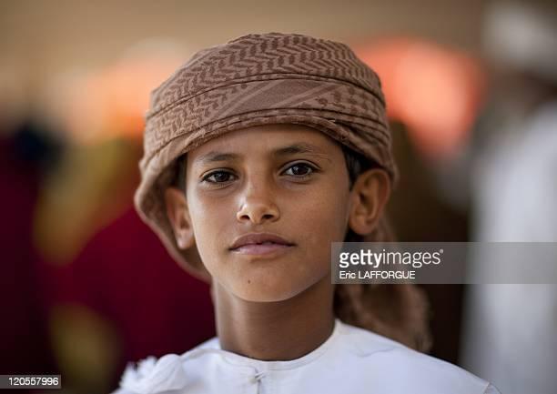 Bedouin boy in Sinaw Oman on December 17 2009