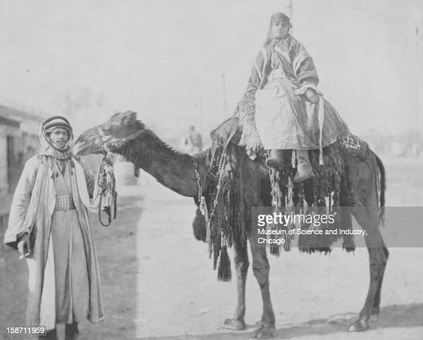 A Bedouin couple titled 'A Bedouin Romance' from the World's Columbian Exposition in Chicago Illinois 1893 This image was published in 'The Dream...