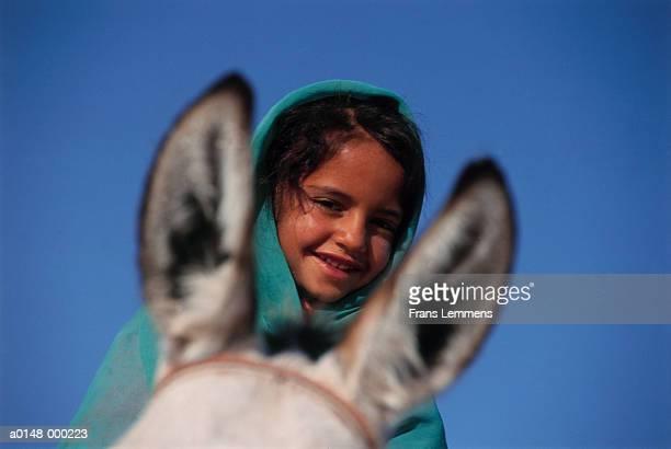 Bedouin Girl on Donkey