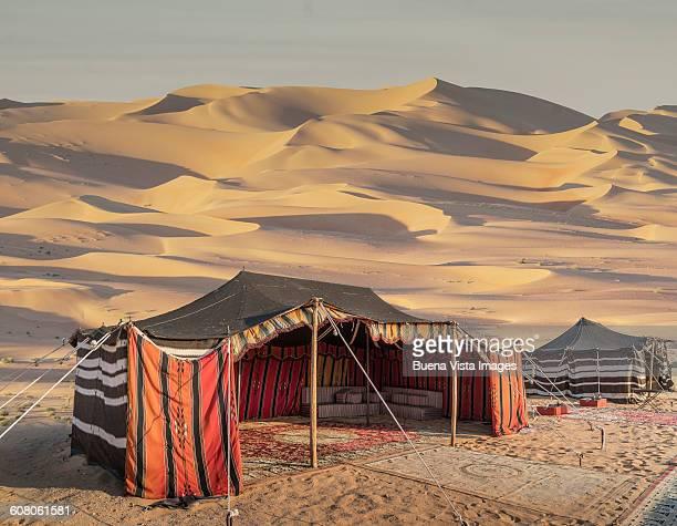 Bedouin tent in the desert