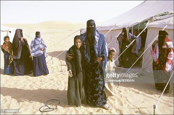 Bedouin women of the Rub al Khali desert the largest desert in Saudi Arabia In February 2003A Bedouin camp in Rub Al Khali Tents inhabited by women...