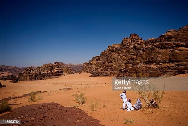 Bedouins in the Hisma Desert.
