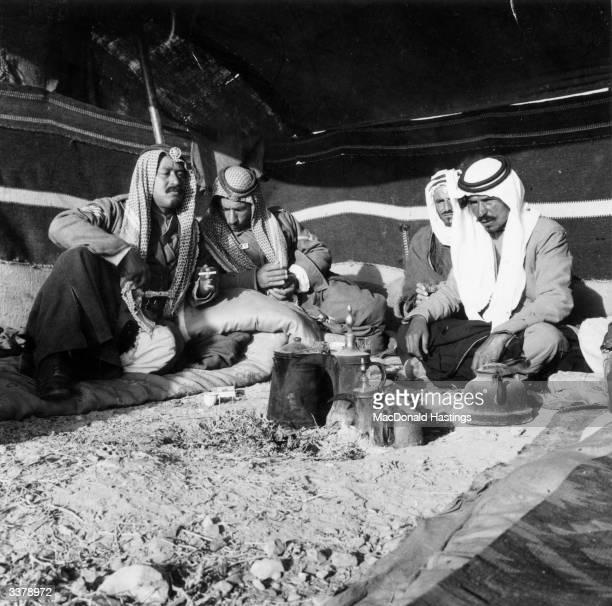 Bedouins nomadic Arabs in the Jordan Desert at camp Virtually all Bedouins are Muslims