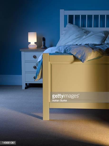 Bedroom at night.