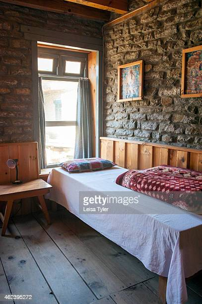 Bedroom at the High Plains Inn in Tukuche on the Annapurna Circuit It's considered one of the most diverse trekking trails in the world the Annapurna...