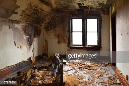 Bedroom Destroyed By Fire