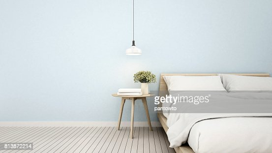 bedroom in apartment or home - 3D Rendering : Stock Photo