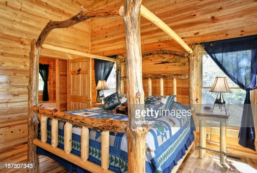Bedroom in Blue with Four poster Bed   Stock Photo. Bedroom In Blue With Fourposter Bed Stock Photo   Getty Images