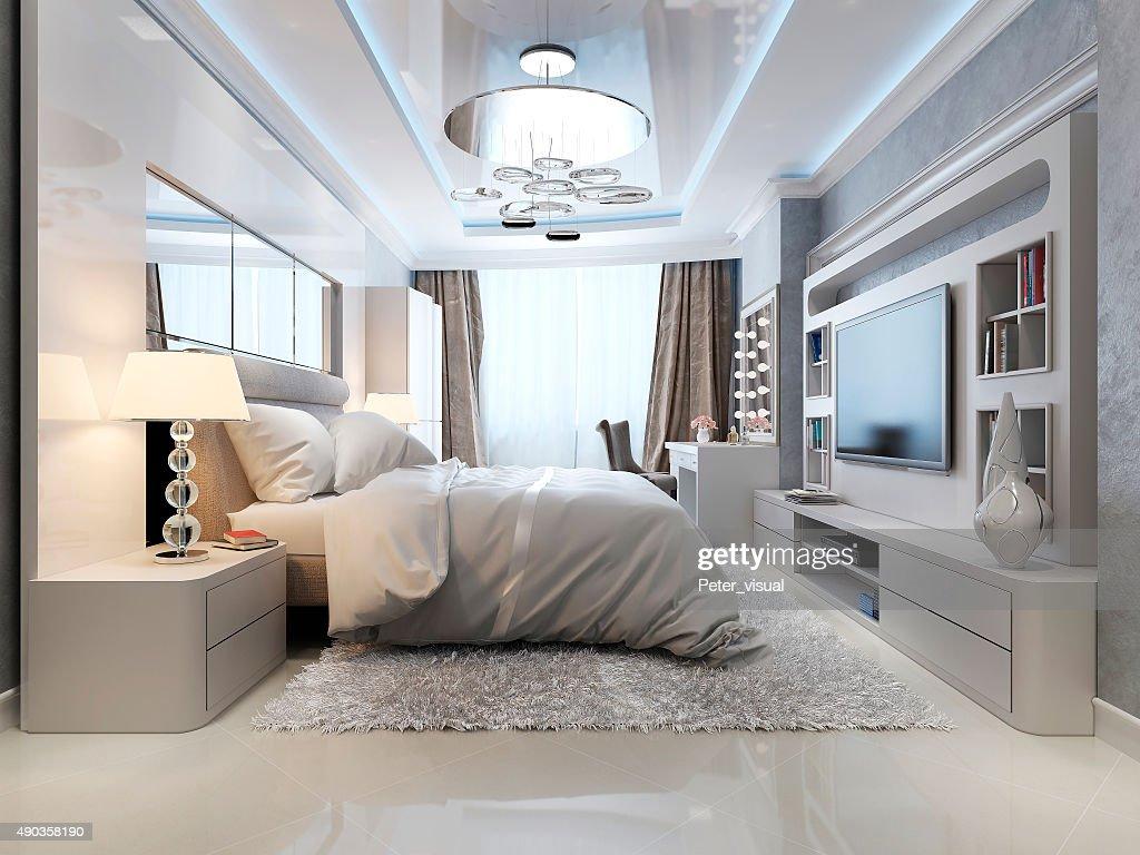 Camere Da Letto Art Deco : Camera da letto in stile art déco e classico foto stock thinkstock