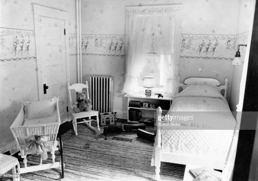 A bedroom in the Brookline, MA birthplace of President John F. Kennedy is pictured on May 28, 1969.