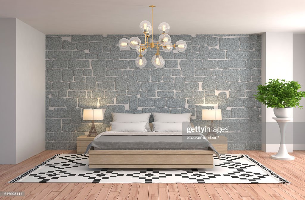 Bedroom interior. 3d illustration : Stock Photo
