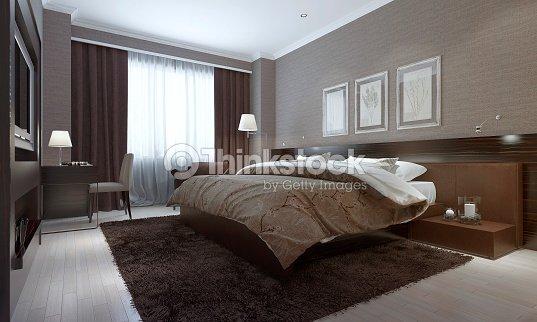 schlafzimmer einrichtung im modernen stil stock foto thinkstock. Black Bedroom Furniture Sets. Home Design Ideas