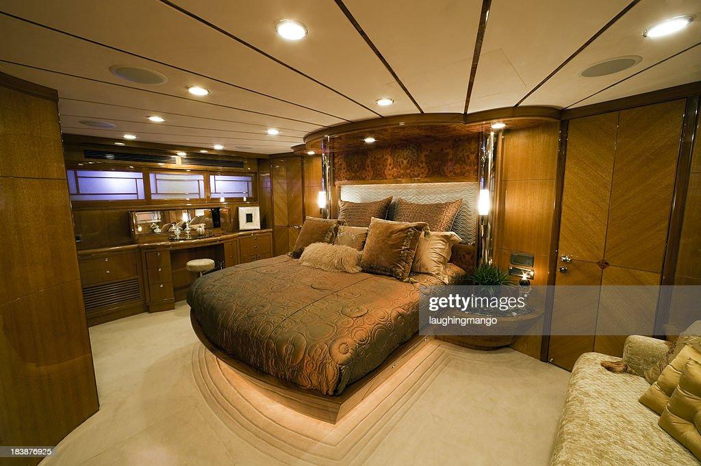 Camera da letto interni di lusso grande motor yacht foto - Camera da letto grande ...