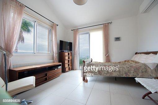 Schlafzimmer mit : Stock-Foto