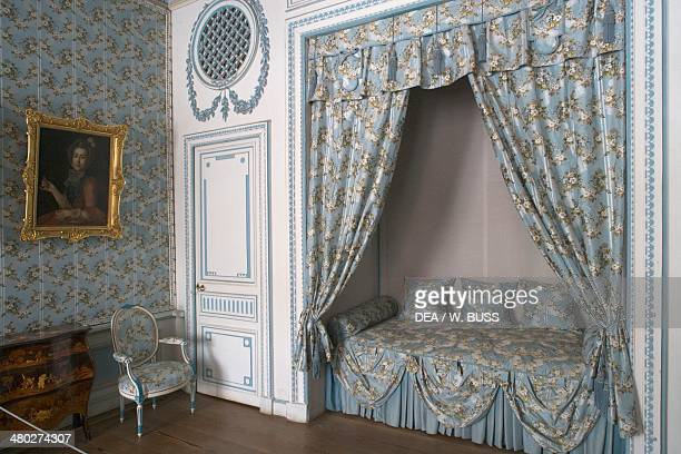 Bedroom Seremetev Palace 176977 designed by Karl Blank Kuskovo residence near Moscow Russia