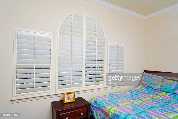 Bedroom Windows with  Blinds